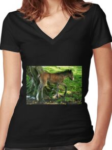 Foal Women's Fitted V-Neck T-Shirt