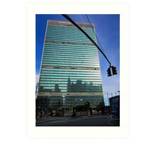 The UN Tower Art Print