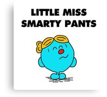 Little Miss Smarty Pants Canvas Print