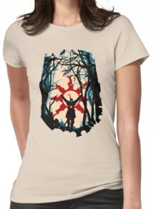 Forest Sun Womens Fitted T-Shirt