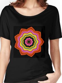 Bright 9-petaled Star Women's Relaxed Fit T-Shirt