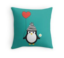Romeo the Penguin Throw Pillow