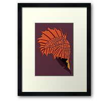 BLOWFISH! Framed Print