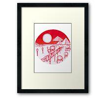 Red Desert Landscape Framed Print