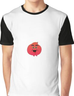 Bushy Eyed Red Monster Graphic T-Shirt