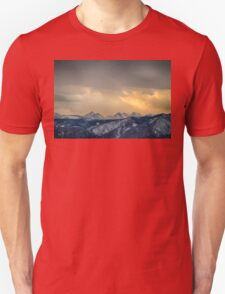 Colorado Rocky Mountain Continental Divide Gold Unisex T-Shirt