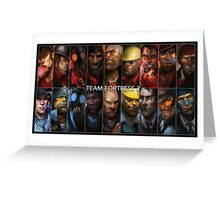 TF2 Red vs Blue Greeting Card