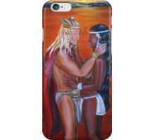 Vikings Discover America -Interracial Lovers Series iPhone Case/Skin