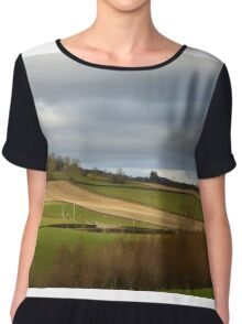 The Ploughed Fields Of Inch Island Chiffon Top