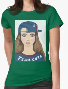 Team Cute Womens Fitted T-Shirt