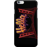 Hella - SF [Black] iPhone Case/Skin