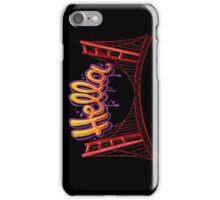 Hella - SF [Black] iPhone Case/Skin