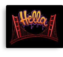 Hella - SF [Black] Canvas Print