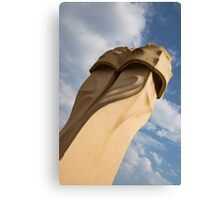 Whimsical Chimneys - Antoni Gaudi's Svelte Pair - Right Canvas Print