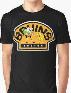 Adventure time Bruins Graphic T-Shirt