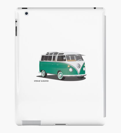 21 Window VW Bus Samba Bus Green iPad Case/Skin