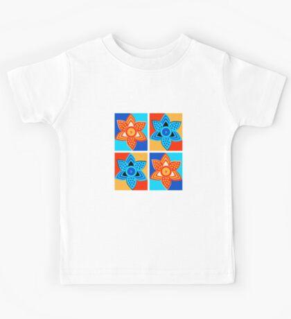 Daffodils retro style pattern Kids Tee