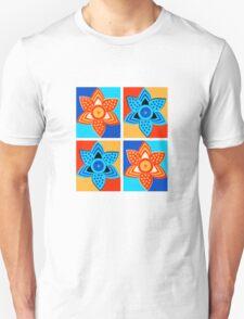 Daffodils retro style pattern Unisex T-Shirt