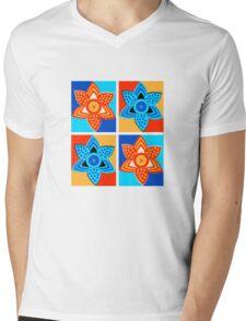 Daffodils retro style pattern Mens V-Neck T-Shirt