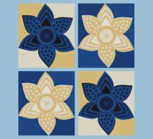 Daffodils pattern One Piece - Short Sleeve