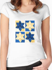 Daffodils pattern Women's Fitted Scoop T-Shirt