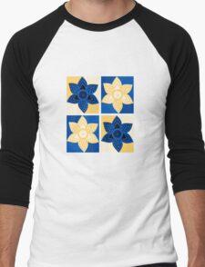Daffodils pattern Men's Baseball ¾ T-Shirt