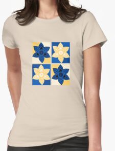 Daffodils pattern Womens Fitted T-Shirt