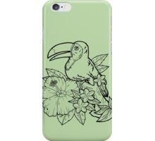 Tropical Toucan (Black) iPhone Case/Skin