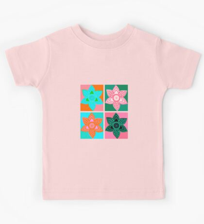 Daffodills Pop Art style pattern Kids Tee