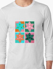 Daffodills Pop Art style pattern Long Sleeve T-Shirt
