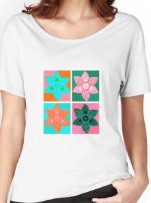 Daffodills Pop Art style pattern Women's Relaxed Fit T-Shirt