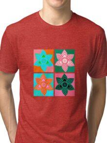 Daffodills Pop Art style pattern Tri-blend T-Shirt