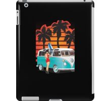 21 Window VW Bus Samba Bus with Palmes Surfboard and Girl XL iPad Case/Skin
