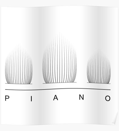 Piano Logo Poster