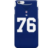 New York Giants Ereck Flowers Color Jersey iPhone Case/Skin