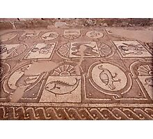 Jordan - Petra - church floor mosaics Photographic Print