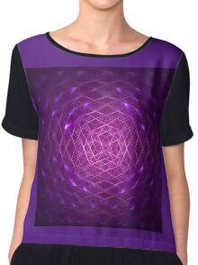 Purple Crown Light Chiffon Top