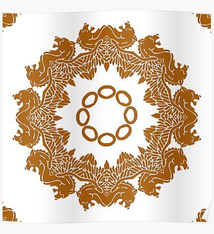 Golden Mandala Poster