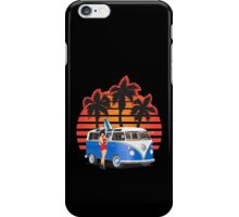 21 Window VW Bus Blue with Girl iPhone Case/Skin