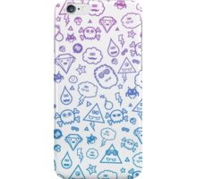 Crazy and Cute Monster Patter in blue pink iPhone Case/Skin