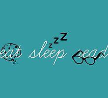 Eat, Sleep, Read by biskh