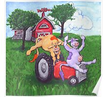 Dairy Cows Steal a Tractor Poster