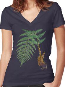 TIR-Fern Women's Fitted V-Neck T-Shirt