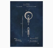 Electric lights Edison patent art Kids Tee