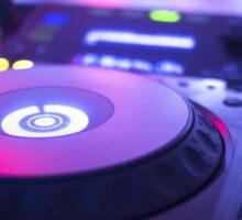 House dance music dj deejay turntable mixing desk nightclub party Ibiza Sticker