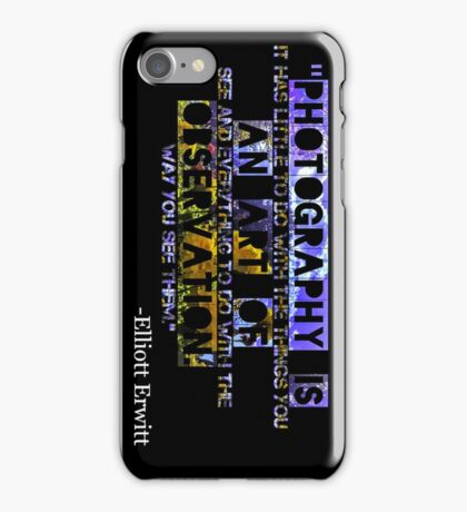 Photography Is iPhone Case/Skin