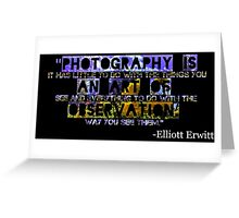 Photography Is Greeting Card