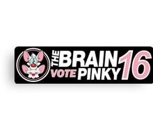The Brain / Pinky 2016 Canvas Print
