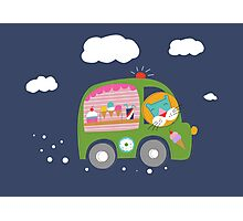 Ice Cream Truck Photographic Print