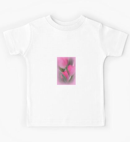 A Vision Of Pink Tulips Kids Tee